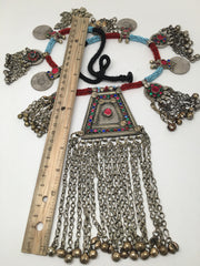 314 Grams Afghan Kuchi Jingle Coins Chain Bells Boho ATS Pendants Necklace,KC166 - watangem.com
