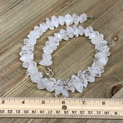 "17-25mm, 44 Bds, 132.8g, Natural Terminated Diamond Quartz Beads Strand 16"",DQ68"