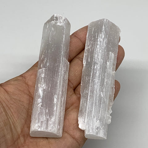 "135.7g, 4"", 2pcs, Natural Rough Solid Selenite Crystal Blade Wand Stick, F3317"