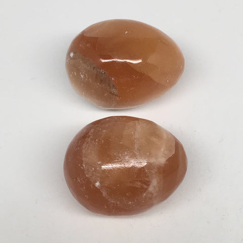 "2pcs,178g, 1.8""-1.9"" Honey Color Onyx Polished Small Eggs @Morocco, MF3336"