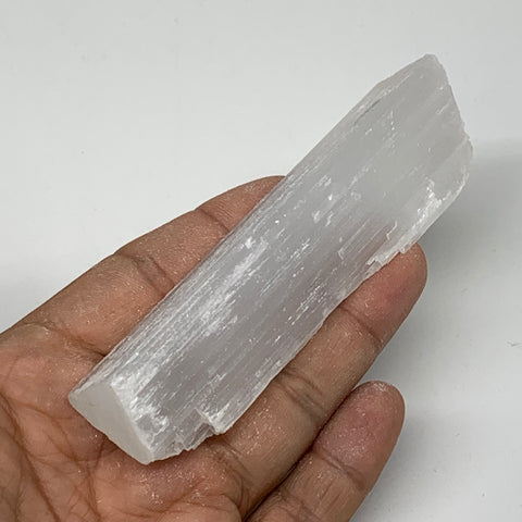 "84.4g, 4""x1.1""x0.9"", Natural Rough Solid Selenite Crystal Blade Wand Stick, F332"