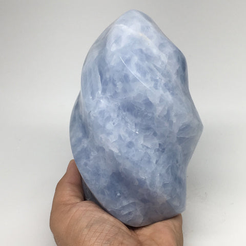 "1606g,5.8""x3.3"" Natural Blue Calcite Twisted Gemstones Reiki @Madagascar,MSP1064"