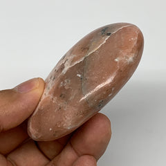 "106.9g, 2.7""x2""x0.9"" Pink Cipolin Palm-Stone Crystal Polished Reiki Energy,B3993"