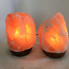 "2x Himalaya Natural Handcraft Rough Raw Crystal Salt Lamp,6.25""-6.5""Tall,XL188 - watangem.com"
