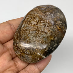 "109.7g,  2.8""x1.8""x1"" Natural Agate Palm-Stone Reiki Energy Crystal Reiki,B3057"