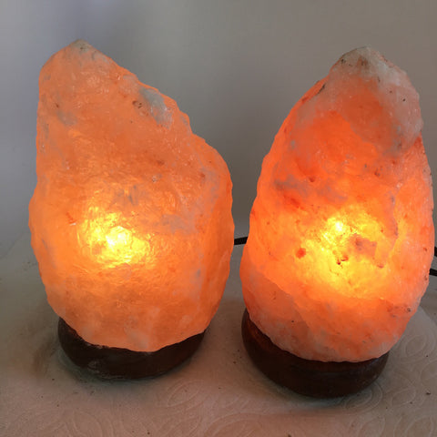 "2x Himalaya Natural Handcraft Rough Raw Crystal Salt Lamp,7.75""-8""Tall,XL189 - watangem.com"