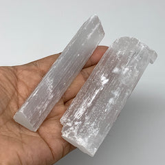 "112.9g, 4""x0.8-1.3""x0.5""-0.8"", Natural Rough Solid Selenite Crystal Blade Wand S"