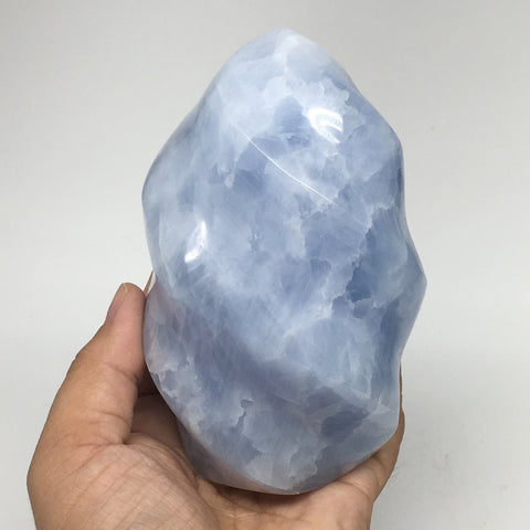 "900g,4.8""x2.9"" Natural Blue Calcite Twisted Gemstones Reiki @Madagascar,MSP1066"