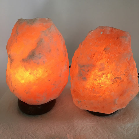 "2x Himalaya Natural Handcraft Rough Raw Crystal Salt Lamp,7.25""-7.75""Tall,XL196 - watangem.com"