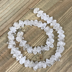 "12-17mm, 53 Bds, 72.8g, Natural Terminated Diamond Quartz Beads Strand 16"",DQ698"