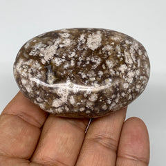 "86.7g,  2.5""x1.7""x0.9"" Natural Agate Palm-Stone Reiki Energy Crystal Reiki,B3059"