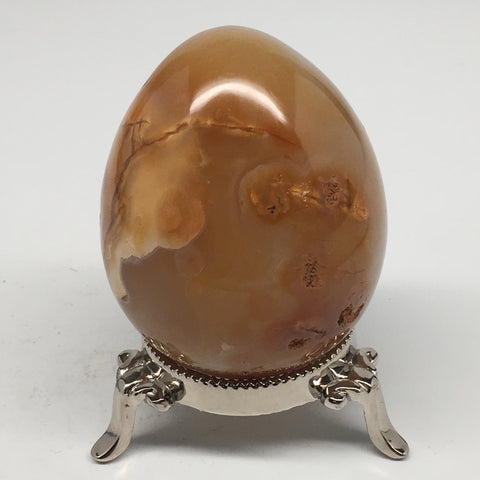"302.7g,2.8""x2.2"" Natural Agate Egg Gemstone @Madagascar,Reiki Energy, MSP928"
