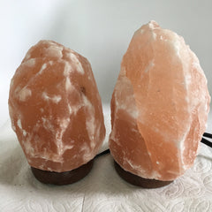 "2x Himalaya Natural Handcraft Rough Raw Crystal Salt Lamp,6.75""-7.75""Tall,XL209 - watangem.com"
