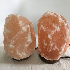 "2x Himalaya Natural Handcraft Rough Raw Crystal Salt Lamp,6.75""-7.5""Tall,XL211 - watangem.com"