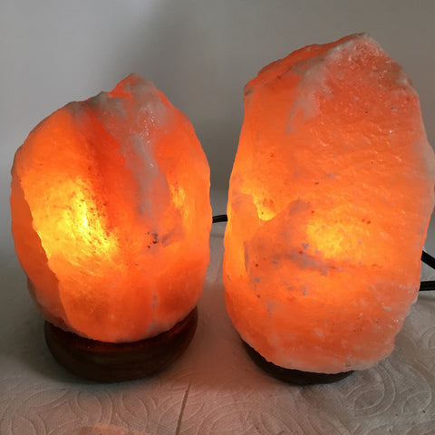 "2x Himalaya Natural Handcraft Rough Raw Crystal Salt Lamp,6.75""-7.75""Tall,XL212 - watangem.com"
