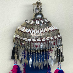 Reproduced from Old Pieces Vintage Style Turkmen Hat Metal Work, P110