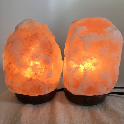 "2x Himalaya Natural Handcraft Rough Raw Crystal Salt Lamp,7""-7.25""Tall,XL215 - watangem.com"