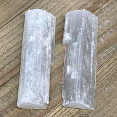 "167.7g, 4"", 2pcs, Natural Rough Solid Selenite Crystal Blade Wand Stick,F3281"