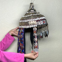 Reproduced from Old Pieces Vintage Style Turkmen Hat Metal Work, P113