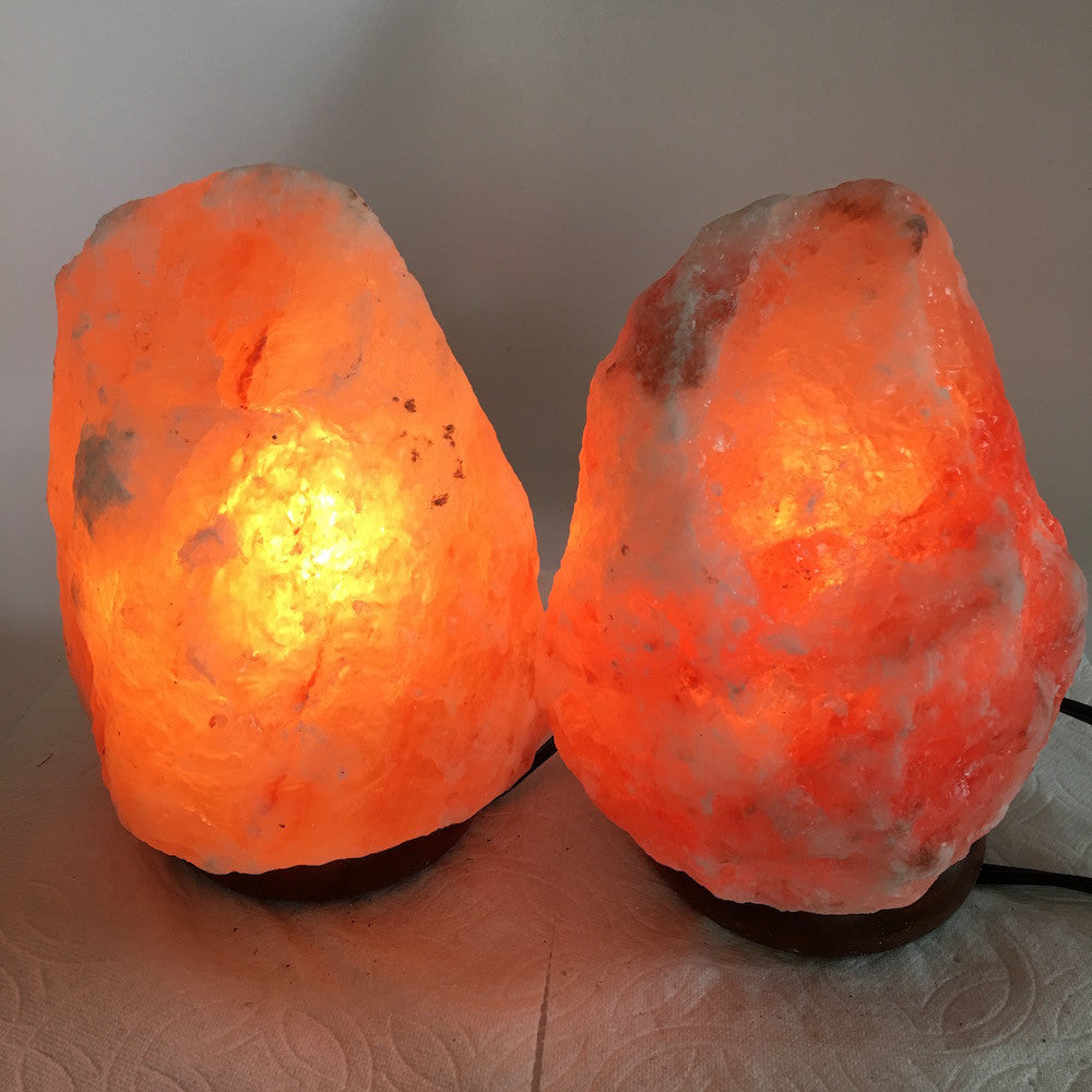 "2x Himalaya Natural Handcraft Rough Raw Crystal Salt Lamp,7.5""-7.5""Tall,XL231 - watangem.com"