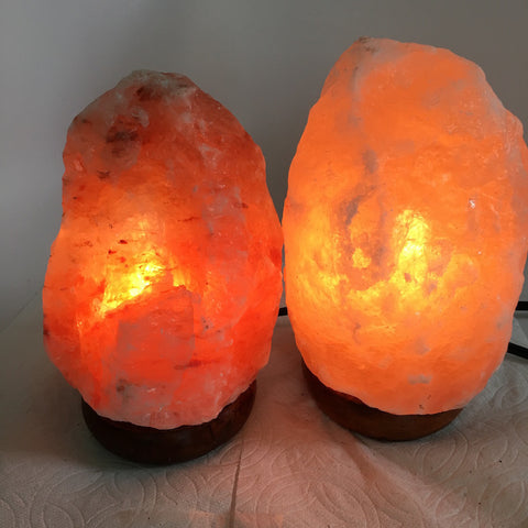 "2x Himalaya Natural Handcraft Rough Raw Crystal Salt Lamp,7.5""-8""Tall,XL236 - watangem.com"