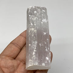 "102.1g,4.1""x1.4""x0.7""Natural Rough Solid Selenite Crystal Blade Wand Stick,F3278"