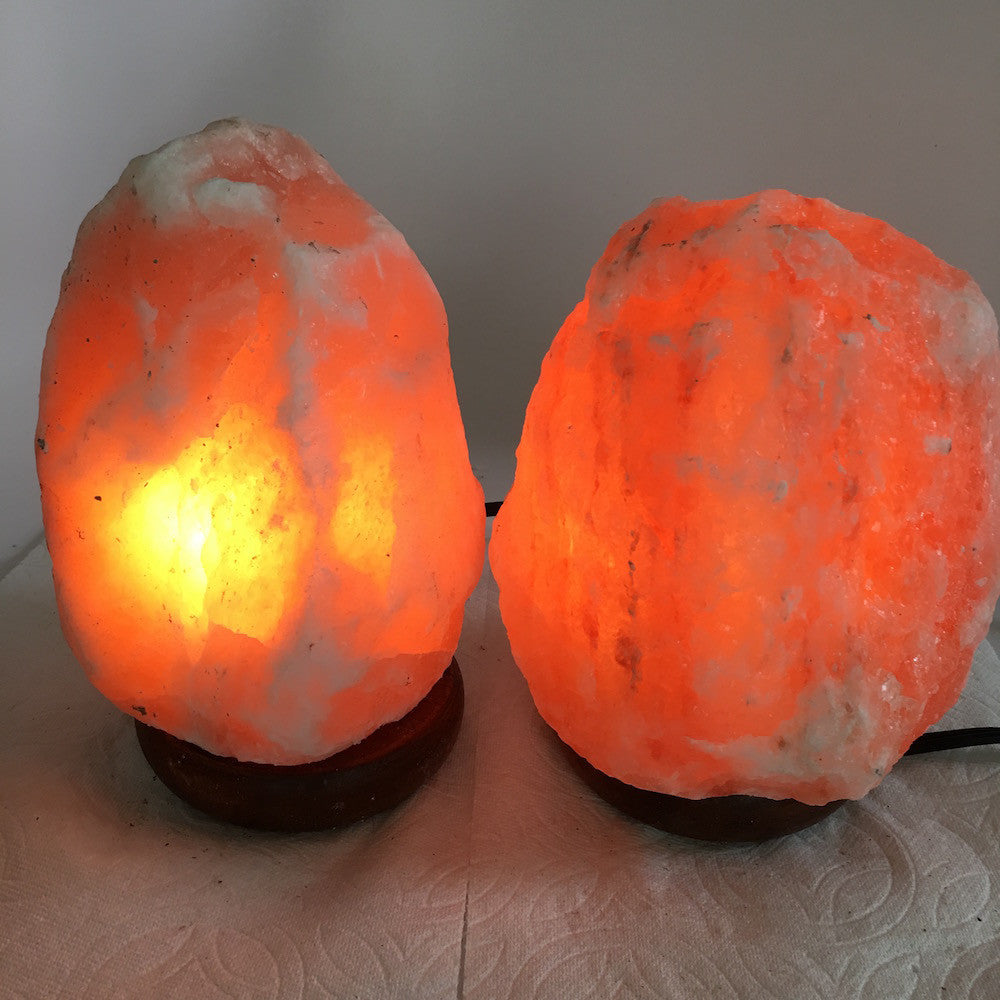 "2x Himalaya Natural Handcraft Rough Raw Crystal Salt Lamp,6.75""-7.25""Tall,XL242 - watangem.com"