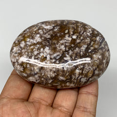 "156.9g, 3""x2.1""x1"" Natural Agate Palm-Stone Reiki Energy Crystal Reiki,B3069"