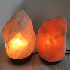 "2x Himalaya Natural Handcraft Rough Raw Crystal Salt Lamp,7.25""-8.25""Tall,XL252 - watangem.com"