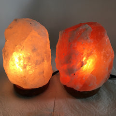 "2x Himalaya Natural Handcraft Rough Raw Crystal Salt Lamp,6.5""-7.5""Tall,XL253 - watangem.com"
