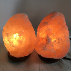 "2x Himalaya Natural Handcraft Rough Raw Crystal Salt Lamp,7""-7.25""Tall,XL256 - watangem.com"