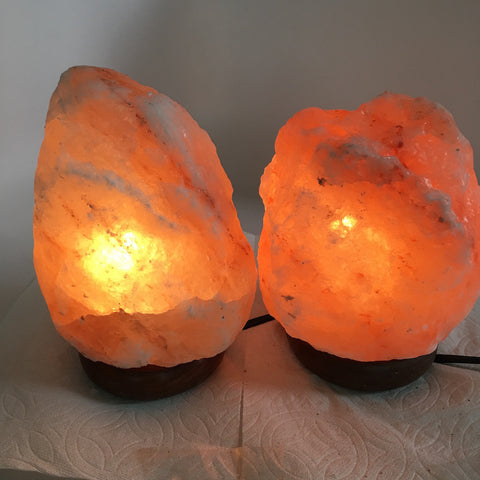 "2x Himalaya Natural Handcraft Rough Raw Crystal Salt Lamp,7""-7.5""Tall,XL258 - watangem.com"