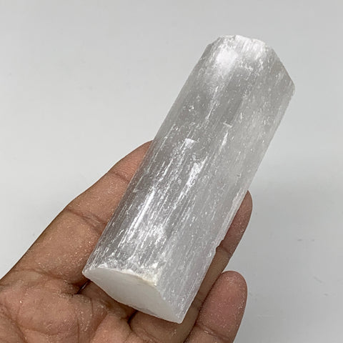 "107.2g,4""x1.4""x0.8""Natural Rough Solid Selenite Crystal Blade Wand Stick,F3273"