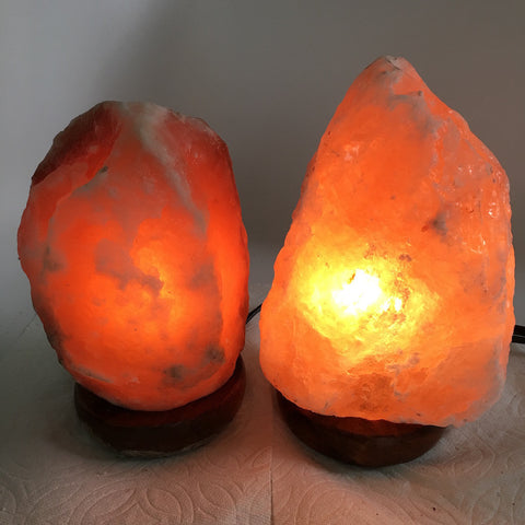 "2x Himalaya Natural Handcraft Rough Raw Crystal Salt Lamp,7.5""-8""Tall,XL263 - watangem.com"