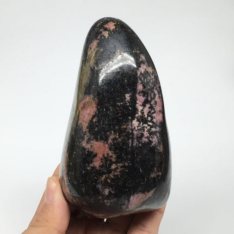 "668g, 4.3""x2.5""x2.3"" Natural Rhodonite Freeform Polished Gemstones, B1037"