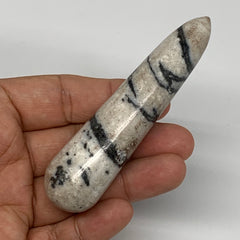 "63.1g, 3.8""x0.9"" Natural Black K2 Jasper Wand Gemstone Polished @Pakistan, B1041"