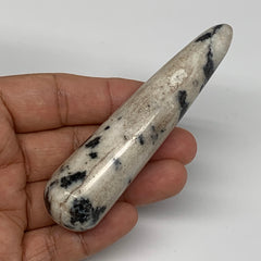 "68.5g, 3.7""x0.9"" Natural Black K2 Jasper Wand Gemstone Polished @Pakistan, B1041"