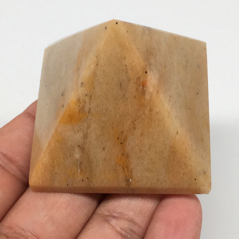 "114.2g,1.9""x1.6"" Natural Yellow Aventurine Pyramid Gemstone Crystal @India,MF351"