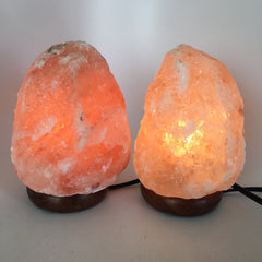 "2x Himalaya Natural Handcraft Rough Raw Crystal Salt Lamp,7.5""Tall, HL39 - watangem.com"