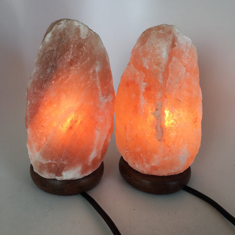"2x Himalaya Natural Handcraft Rough Raw Crystal Salt Lamp,8.25""-8.5""Tall, HL42 - watangem.com"