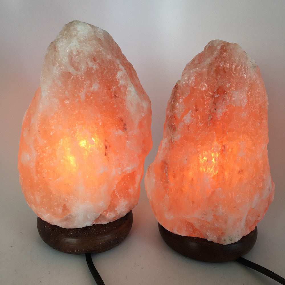 "2x Himalaya Natural Handcraft Rough Raw Crystal Salt Lamp,8""- 8.25""Tall, HL47 - watangem.com"