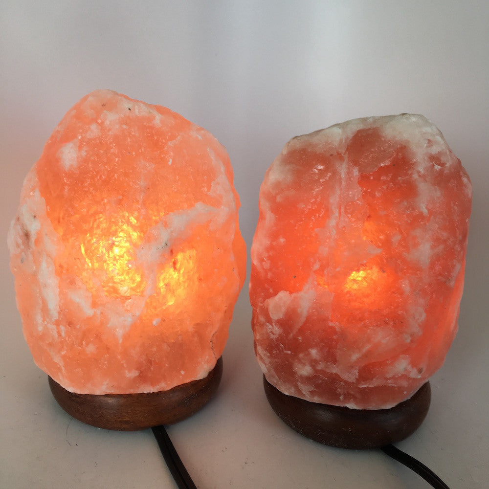 "2x Himalaya Natural Handcraft Rough Raw Crystal Salt Lamp,About 7""Tall, HL55 - watangem.com"