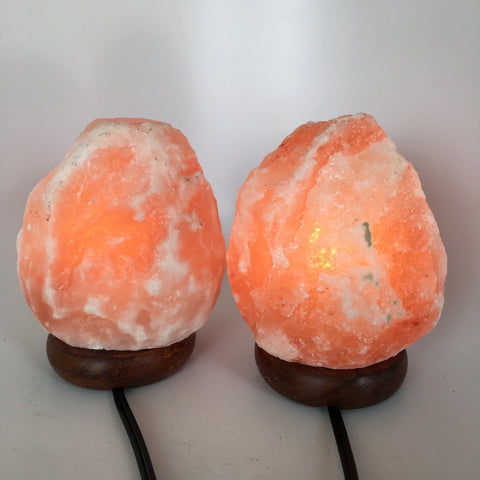 "2x Himalaya Natural Handcraft Rough Raw Crystal Salt Lamp,6.5""-6.75""Tall, HL69 - watangem.com"