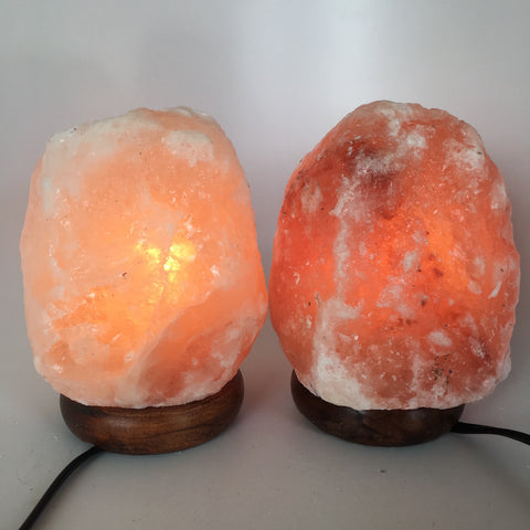"2x Himalaya Natural Handcraft Rough Raw Crystal Salt Lamp,6.75""-7""Tall, HL71 - watangem.com"