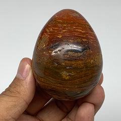 "180.6g, 2.4""x1.9"" Natural Red Jasper Egg Gemstone from Madagascar, B4163"