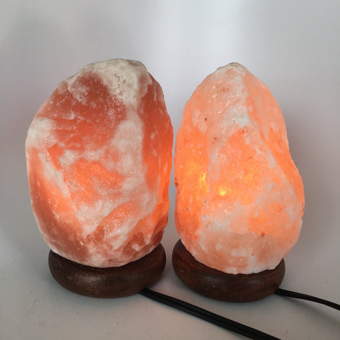 "2x Himalaya Natural Handcraft Rough Raw Crystal Salt Lamp,7.25""-7.5""Tall, HL76 - watangem.com"