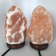 "2x Himalaya Natural Handcraft Rough Raw Crystal Salt Lamp,8.5""-8.75""Tall, HL79"