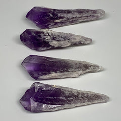 "84.2g,2.6""-3.1"", 4pcs, Amethyst Point Crystal Rough Mineral Specimens, B6882"
