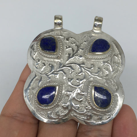 "1pc,2.3""x2""x0.4"",Turkmen Pendant Lapis Lazuli Square Shape Statement,TN665"