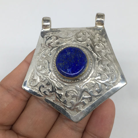 "1pc,2.5""x2.3""x0.6"",Turkmen Pendant Lapis Lazuli Pentagon Shape Statement,TN669"